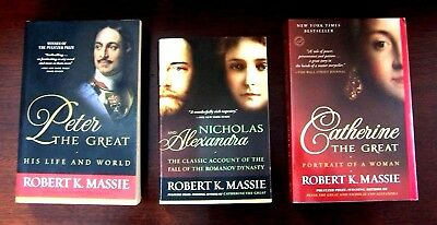 3 ROBERT MASSIE softcovers RUSSIAN history FREE SHIP