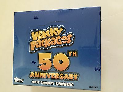 2017 TOPPS  WACKY PACKAGES 50th ANNIVERSARY RETAIL BOX