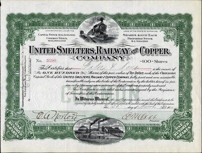 United Smelters, Railway And Coppe Co, 1909, Wyoming, Uncancelled Stock Cft.