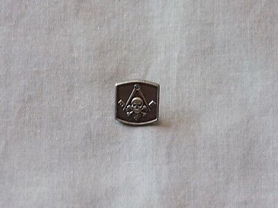 Widows Sons Lapel Tac Pin Skull Crossbones Square Compass Freemason Gray NEW!