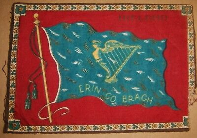 Cigar Felt IRELAND Winged Maiden Harp Erin Go Bragh Irish Flag Tobacco Wrap
