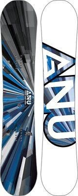 GNU Carbon Credit Asym Banana Camber Snowboard, 156cm Wide 2018