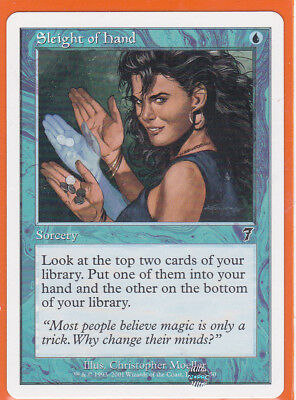 MTG 7th Edition  1 x SLEIGHT OF HAND  98/350  Sorcery  Never Played  AS NEW