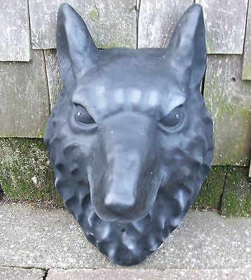 Wolfs Head Wall Plaque Art Hanging Decor Motion Sensor LED Light Sound Mancave