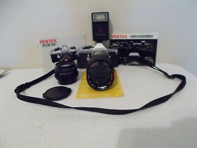 PENTAX ME super with 2 LENSES, FLASH and Manuals