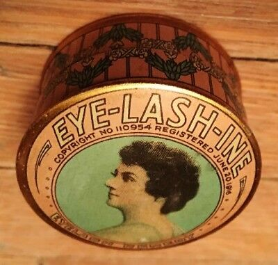 1916 Dr F. Formaneck, Chicago Illinois Eye-Lash-In Eyelash Remedy Lithograph Tin