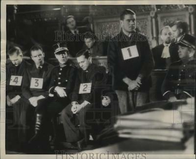 1946 Press Photo Germans given death penalty for World War II crimes, Brussels