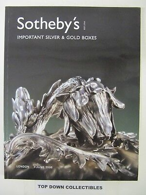 Sotheby's  Important Silver & Gold Boxes Auction Catalog  London 2006