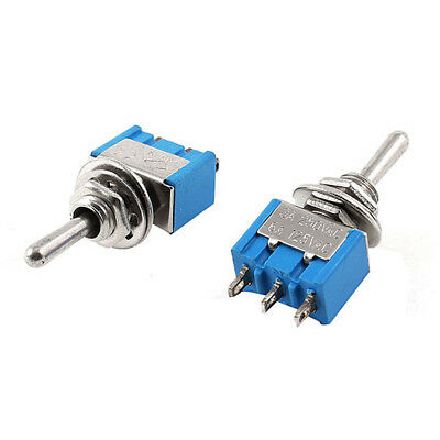 3-Pin 3 Position ON-OFF-ON SPDT Mini Latching Toggle Switch AC 125V/6A 250V 3A