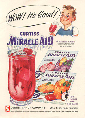 Wow! It's Good! Curtiss Miracle-Aid ad 1954