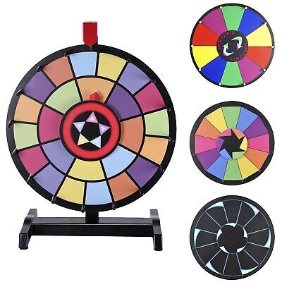 """15"""" Tabletop Color Prize Wheel Spin Fortune Win Game Tradeshow Party Carnival"""