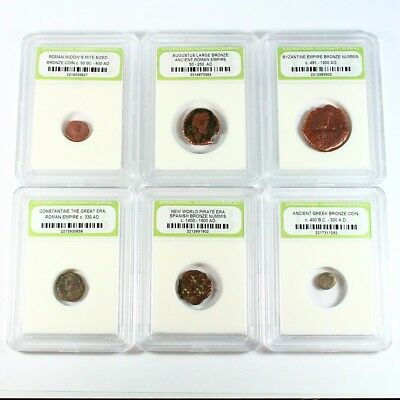 Historic Ancient Coin Lot - 6 Different Coins - Exact Coins Shown rm2750