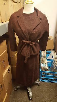 Best & CO VINTAGE 3 Piece Womens Skirt SUIT BROWN WOOL Satin Lined