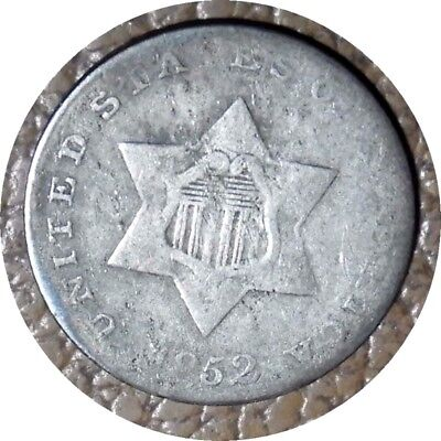 elf Three Cents Silver  1852   Type I