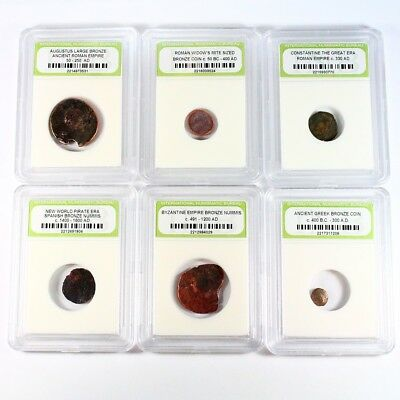 Historic Ancient Coin Lot - 6 Different Coins - Exact Coins Shown rm2755