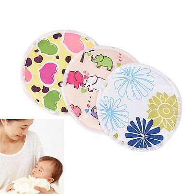 Bamboo Reusable Breast Pads Nursing Maternity Organic Washable Pad Waterproof FG