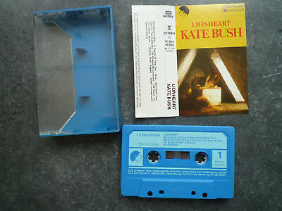 MC Kate Bush Lionheart 1C 264-06 859 EMI Made in Germany music cassette tape