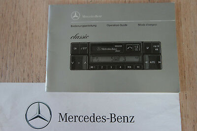 orig.Mercedes-Benz Bedienungsanleitung BECKER Classic BE 2010 Radio/Cassette/CD