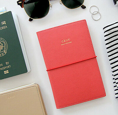 Caily Passport Case Ticket Boarding Pass Holder Card Cash ID Travel Wallet
