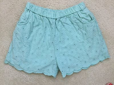 Boden  Girls Sz 12 ~Mini Boden~Shorts Cotton Eyelet  Euc