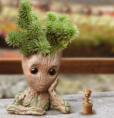 Guardians of The Galaxy Baby Groot Figure Flowerpot Style Pen Pot Toy Best Gift