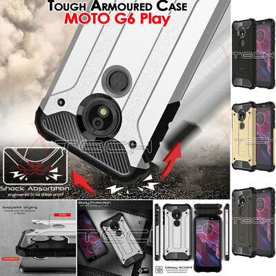 Motorola Moto G6 Play TOUGH ARMOURED Slim Shock Proof Hard Protective Case Cover