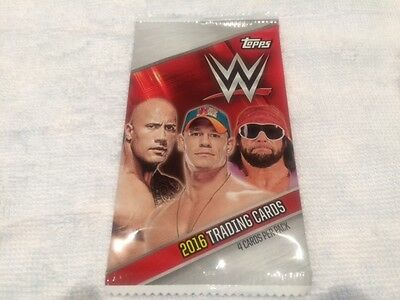 L@@k Topps Wwe 2016 Trading Cards Factory Sealed Packet