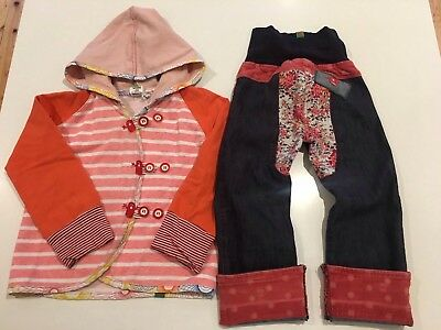 Oishi M Jeans & Oishi-M Hoodie Jacket, Size 4 - 5 Years, Girls, Fits From 3 Year