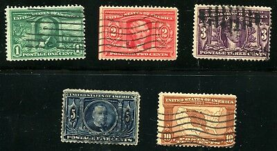 US sc#323-#327  1904 Louisiana Purchase Issue complete