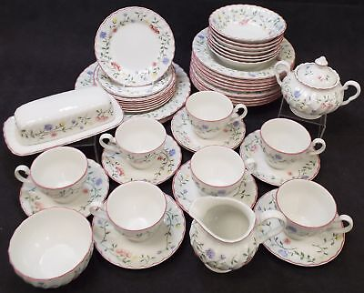 JOHNSON BROTHERS 45 Pieces Summer Chintz Tea & Dinner Set Made In England - H63