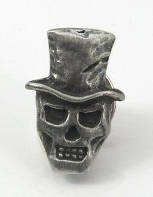 Baron Samedi Skull Top Hat Handcrafted From English Pewter Lapel Pin Badge