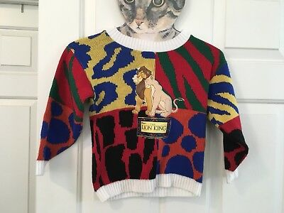Kids Vintage 90s Disneys The Lion King Pullover Sweater Small Indie Hipster Rad