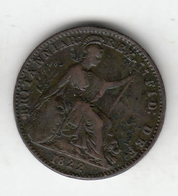 Gb 1/4D 1822 George 4Th Copper       2K               By Coinmountain