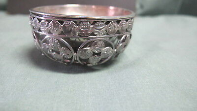 Middle East Design Silver 2 Pc Small Bowl