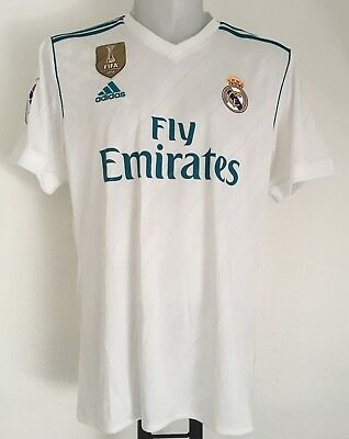 Real Madrid 2017/18 S/s Ucl Home Shirt By Adidas Size Adults Xxl  Brand New
