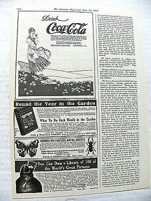 """1917,june 30 Literary Digest """"there's An All-Out-Doors"""" Girl Standing In Meadow"""