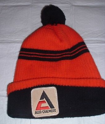 Extremely RARE Vintage 1970s Allis Chamlers Stocking Cap / Hat w/ Patch NICE