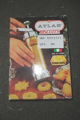 Vintage Marcato Atlas Cookie Biscuit Maker Press No. 178306 Made In Italy