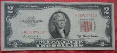 US NOTE 1953A STAR $2 Red Seal *02810790A ERROR REPLACEMENT