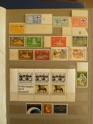 Netherlands & Colonies old MNH stamp collection, including 1 MNH souvenir sheet.
