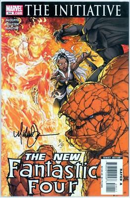 Fantastic Four #544 Df Dynamic Forces Signed Michael Turner Coa #10 Marvel Movie