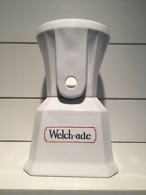 Vintage Welch-Ade Soda Fountain Syrup Drug Store Dispenser Milk Glass 1900's