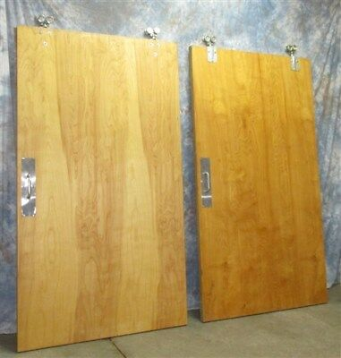 2 Rolling Doors Architectural Salvage Pocket Room Divider Barn Hardware Vintage