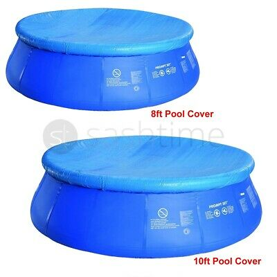 8ft/10ft Fast Set Swimming Pool Cover Round Paddling Sheet Debris Prompt Garden