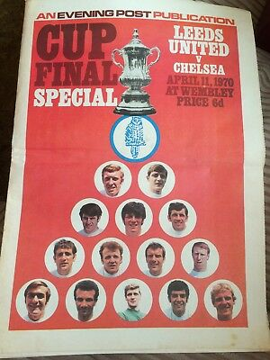 Leeds United Football Club Evening Post 1970 Cup Final Special Middle Page Gone