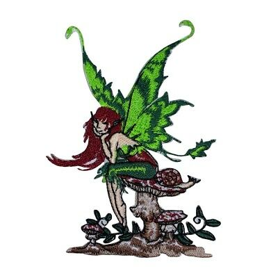 Amy Brown Thinking of You Fairy Patch Mushroom Pixie Embroidered IronOn Applique