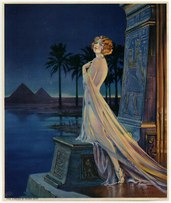 Art Deco Egyptian Antique Henry Clive 1930s Fantasy Redhead Flapper Pin-Up Print
