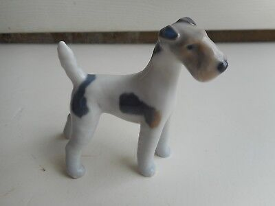 Vintage Royal Copenhagen Porcelain Fox Terrier Dog
