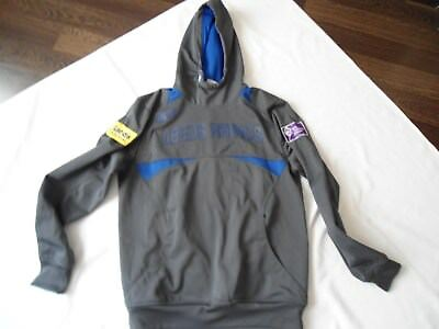 Leeds Rhinos Rugby Players Issue Hooded Training Jacket Shirt Size Small