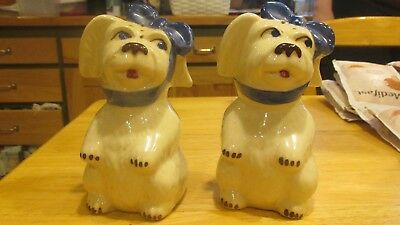 "Two (2) Shawnee Pottery 'MUGGSY' large (5"") shakers  1946-1961"